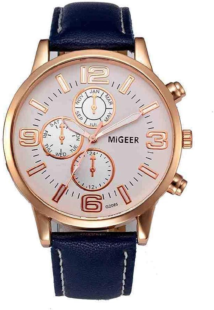 OLUYNG Reloj de Pulsera Unisex Casual Geneva Checkers Faux Leather Quartz Analog naviforce Wrist Women Relojes Classics Color Ladies Sport Regalos 533