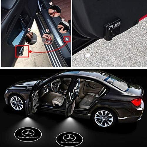 con logo senza fili per Mercedes Benz LED A60 2 luci a LED per portiera dellauto colore: bianco