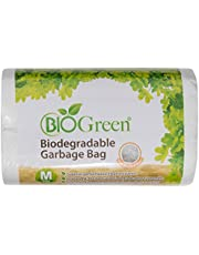 Biogreen Disposable Garbage Bag, White, (Pack of 30)