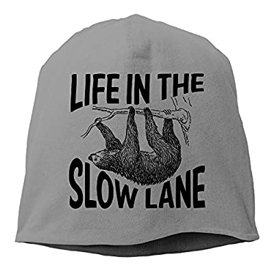 Life In The Slow Lane Sloth Lovers Beanies Cap - Sloth Beanie