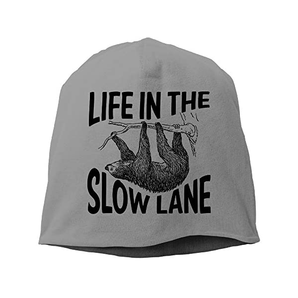 Life In The Slow Lane Sloth Lovers Beanies Cap -