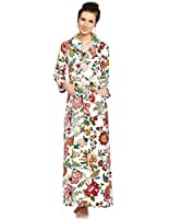 Long Women's Terry Cotton Bath Robe - Toweling with Belt - Be Relax