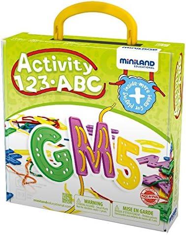 Miniland Activity 123 ABC Alphabet Lacing Set Miniland Educational Corp 45307