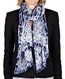 Roberto Cavalli Women's Lace Floral Animal Print Silk Scarf Large