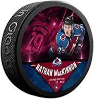 Nathan MacKinnon Colorado_Avalanche Unsigned Fanatics Exclusive Player Hockey Puck - Limited Edition of 1000