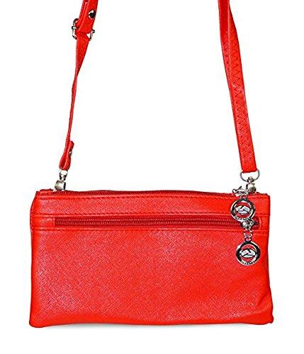 Leopard Print Red Crossbody Wristlet Bag T0w1qHT