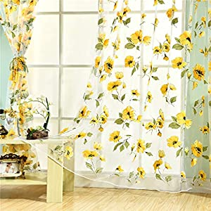 50 Absolutely Beautiful Sunflower Curtains