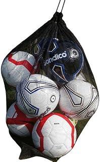 NNN - Rete da trasporto per 10 palloni da calcio, rugby, netball, colore: nero