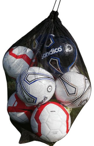 New 10 balls Black Mesh football carry net soccer netball, rugby ball
