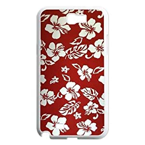 Red Hawaii Flower Customized Cover Case for Samsung Galaxy Note 2 N7100,custom phone case ygtg606049