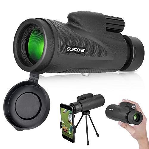 Monocular Telescope with Low Night Vision – Evershop 12X50 High Power Monoculars for Adults Kids with Tripod Smartphone Holder Best Gift for Bird Watching Hunting Camping Travelling Wildlife Secenery