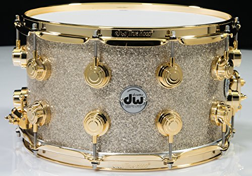 Dw Collectors Kit (DW Collector's Series Maple Snare Broken Glass - Gold Hardware (8x14))