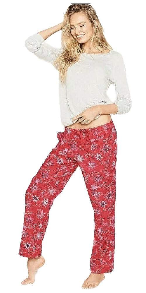 177a958a20 Victoria's Secret Women's The Lounge PJ Lightweight Flannel Cotton Pajama  Set at Amazon Women's Clothing store: