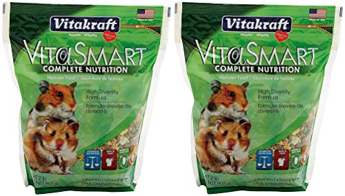 Vitakraft 2 Pack VitaSmart Hamster Food - High Diversity Formula, 2 Pounds Per Pack