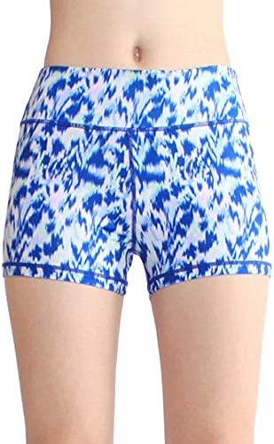 レディースジャージ上下セット 女性用シースルーなしワークアウトヨガショーツ (色 : 青, サイズ : M)