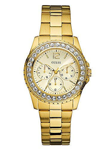 Guess-Gold-Tone-Multifunction-Watch