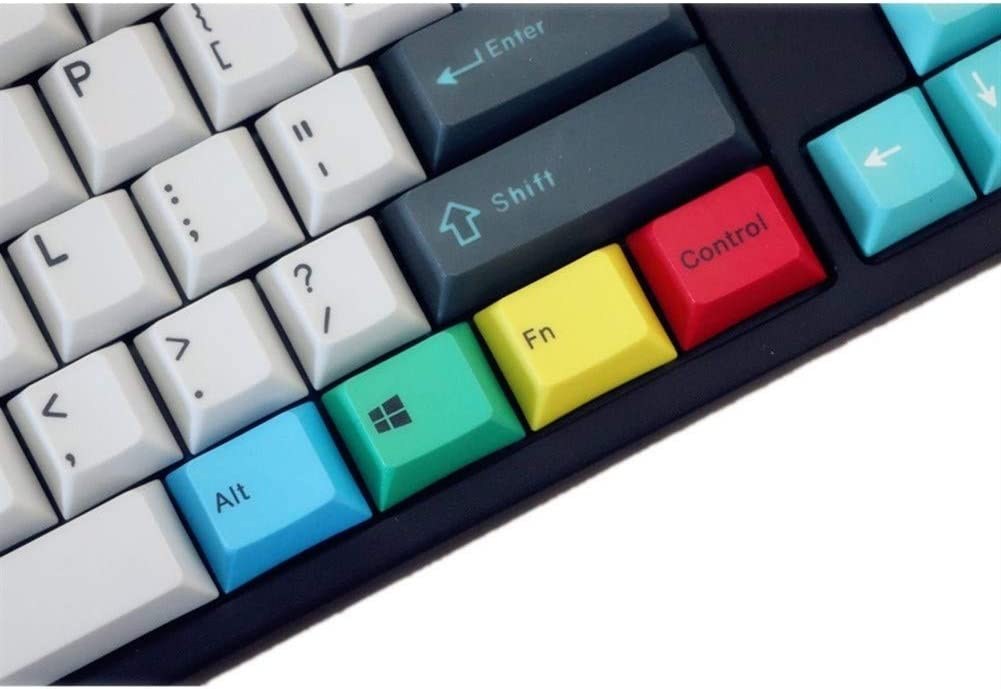 Color : Red Man-hj Keyboard keycaps in Stock CMYK Pbt Keycap Cherry Profile 9 Key Dye Subbed Keycaps Fit Switches