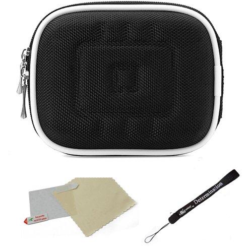 Lightweight HardShell Carrying Case For Sony Cyber-Shot Digital Compact Camera (DSC-HX, RX, TF, TX, W, WX) + Screen Protector + Mini Tripod