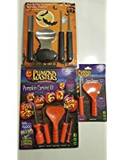 Professional Series Pumpkin Carving Kit – 4 piece Stainless Steel Tools Set to create the perfect Pumpkin. Wow all your trick or Treaters and Guests! - **BONUS** 10 Paper Halloween Carving Stencil Included