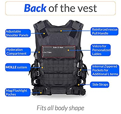 HCS4 Tactical Vest | Tactical Ultra-Light and Breathable | Multiple Magazine Pockets | Outdoor Activities | Detachable Utility Belt