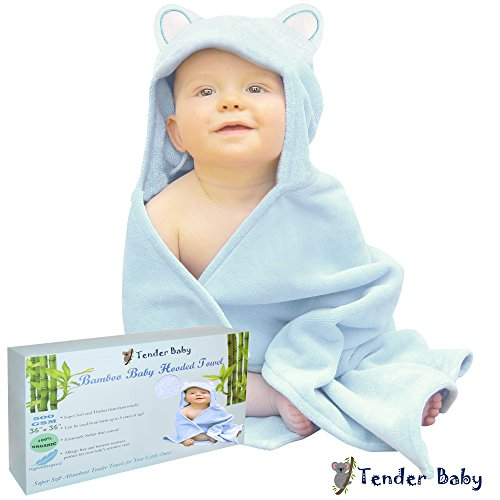 Baby Hooded Towel   Baby Bath Towel For Infant  Toddler  Newborn  And Kids   Extra Soft 100  Organic Bamboo Hooded Towel  500 Gsm  36X36  Oversized For Boys Or Girls   Luxury Baby Shower Gift  Blue