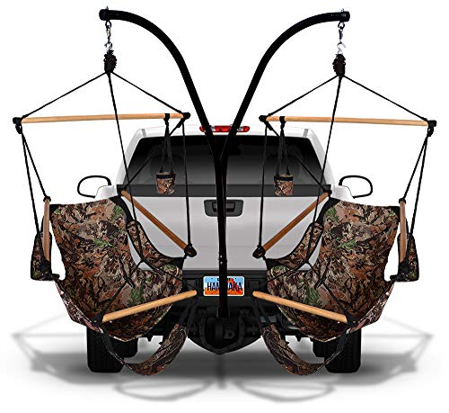 (Hammaka 40536-KP ammaka Trailer Hitch Stand and Cradle Chairs Combo (Camoflauge))