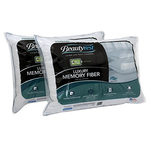 Beautyrest Bed Pillow - Beautyrest Luxury Memory Fiber Pillow, Set of 2 (King)