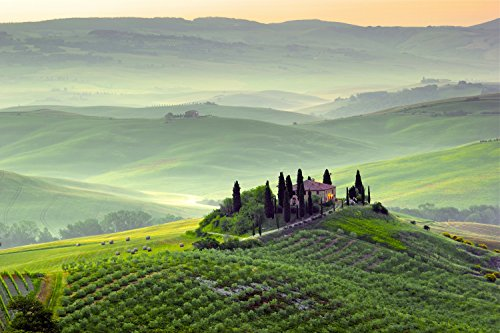 Price comparison product image Wooden Adult Jigsaw Puzzle Early Morning On Tuscany Countryside Italy 500-Pieces