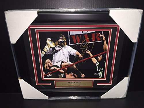 Wwe Wwf Mick Foley Mankind Autographed Framed 8x10 Photo Legend - Autographed Wrestling - 8x10 Unsigned Photographs Framed