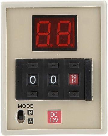Relais de temporisation 0.01S-99H Affichage /à LED double mode AH3-DM DC 12V