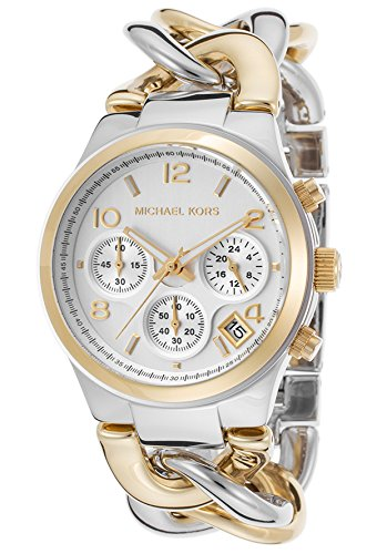 Michael Kors Watches Runway Twist Watch (Two Tone Gold) by Michael Kors