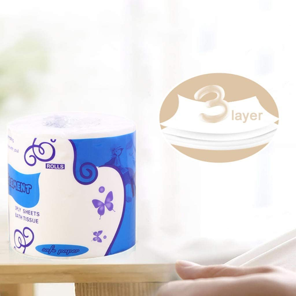 Soft 10 Rolls Home Kitchen Toilet Tissue Strong and Highly Absorbent Hand Towels for Daily Use Peleony White Silky /& Smooth Soft Professional Series Premium 4-Ply Toilet Paper