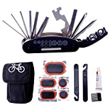 Kyпить DAWAY A32 Bike Repair Tool Kits - 16 in 1 Multifunction Bicycle Mechanic Fix Tools Set Bag with Tire Patch Levers & Glue на Amazon.com