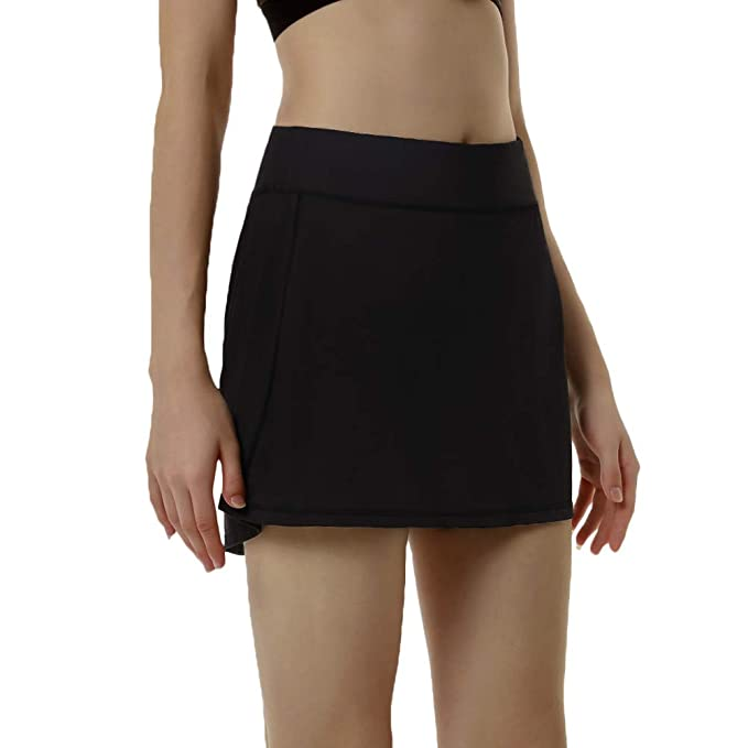 7f60eb9a3 Since Song Women's Active Athletic Skort Skirt with Pockets Inner Shorts  Perfect for Running Golf Tennis