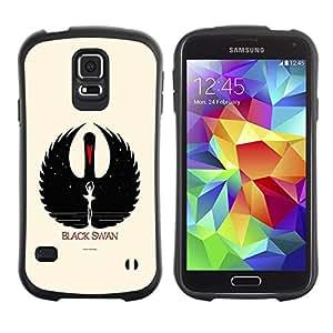 Paccase / Suave TPU GEL Caso Carcasa de Protección Funda para - Black Swan - Samsung Galaxy S5 SM-G900