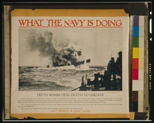 Photo: 1917 Depth bombs deal death to U-boats Photo Picture