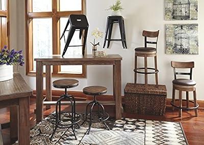Ashley Furniture Signature Design - Pinnadel Swivel Barstool - Brown