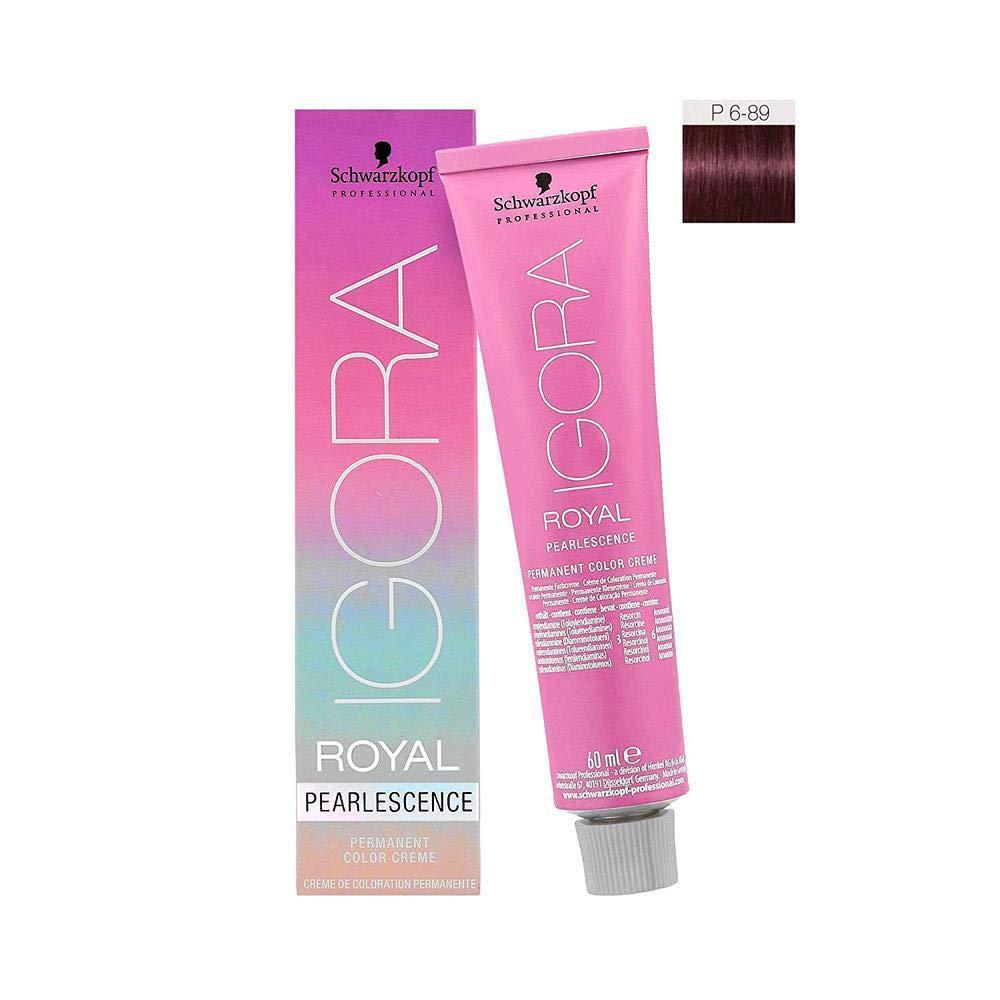 Schwarzkopf Igora Royal Pearlescence Coloración Permanente en Crema para el Cabello P6-89 - 60 ml (4045787303582)