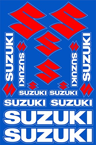 Suzuki Decals Stickers Motorcycle Vinyl Graphic Set (Vinyl Motorcycle Graphics)