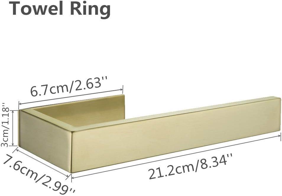 WOMAO Einfach Toilettenpapierhalter Toilettenrollenhalter Ohne Bohren Selbstkleben WC Rostfrei Geb/ürstet Gold Finished Edelstahl Konstruktion