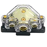 ZOOKOTO Power Distribution Block, Auto Car Audio Amplifier 1 in 3 Ways Fuse Holder Circuit Protector (3 Way)