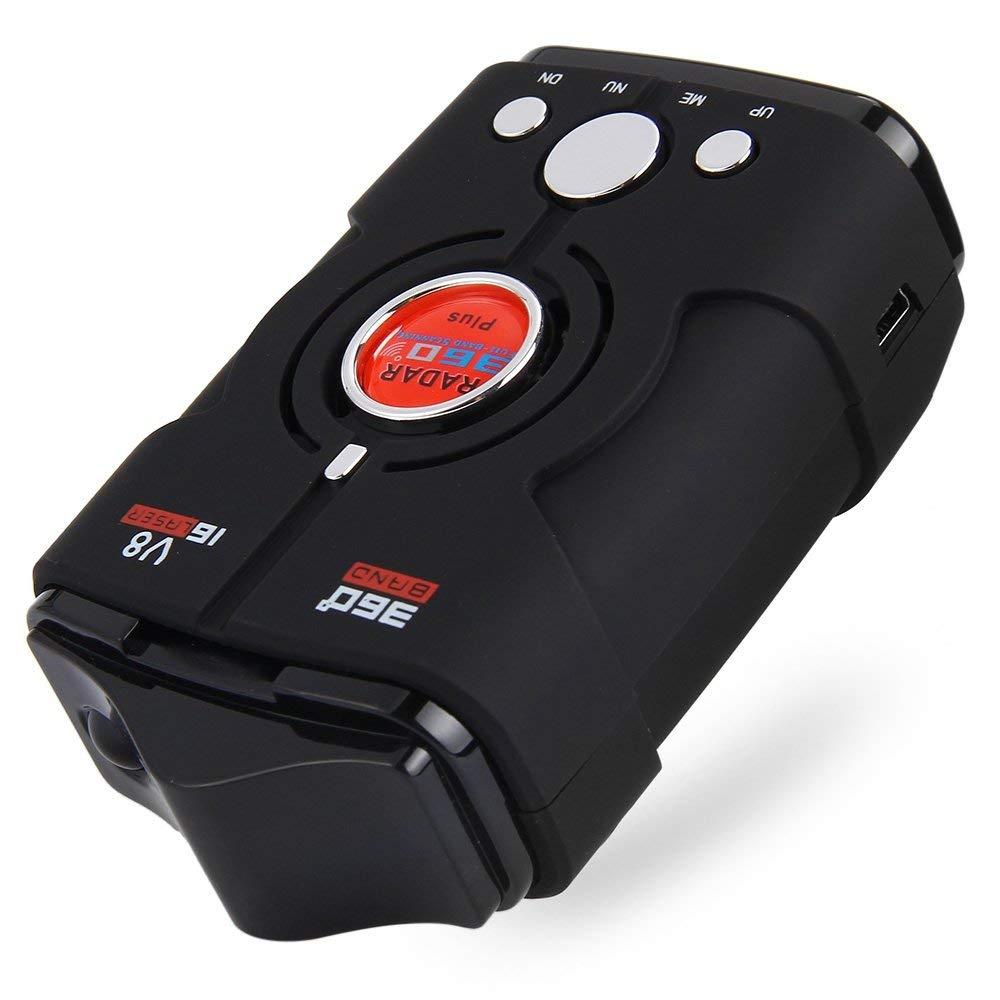 HAPQIN Auto Trucker Geschwindigkeit V8 Radarwarner Voice Alert Warnung 16 Band Auto 360 Grad