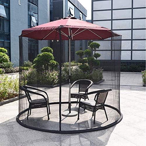 日傘用HYLH蚊帳、屋外ガーデン蚊カバー傘ネットパティオネットジッパードアスクリーンハウス付きガゼボに最適