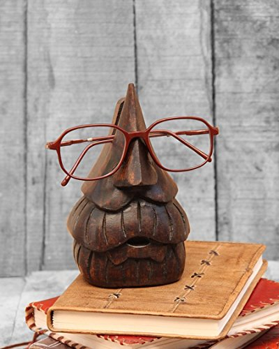 Kamla Sellers Wooden Nose Shaped Eyeglass Spectacle Holder Display Stand Home Decorative (Beard ()
