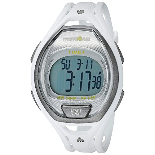 Timex Unisex Ironman Sleek 50 41mm White Resin Band & Case Acrylic Crystal Quartz Grey Dial Watch T5K962