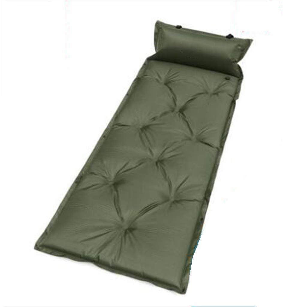 LYLLB-Air bed AußEnluftbett Automatische Aufblasbare Kissen Feuchtigkeit Pad Einzelne Schlaf Pad Punkt Design GrüN 185 X 55 cm