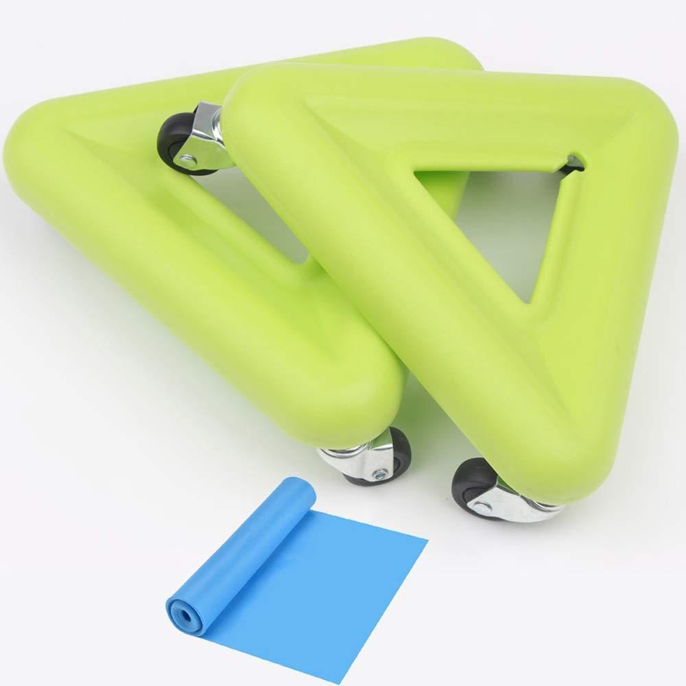 Jiu Si- 腹部フィットネス機器ホーム腹部ホイールフィットネスホイール三輪腹部ディスクスケートボード多方向回転 腹部ホイール (色 : D)  D B07QG1L9J5
