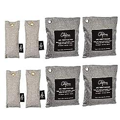 Bamboo Odor Eliminator Bags (8 Pack), Ba...