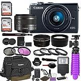 Canon EOS M100 Mirrorless Digital Camera (Black) Premium...