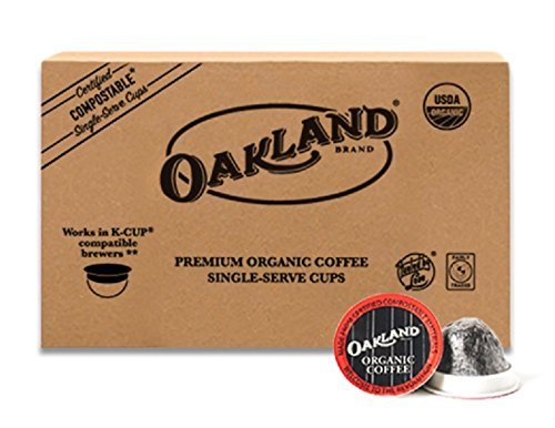 - Oakland Coffee Works, Fourth Wave Blend, Organic Coffee in Single-Serve Pods, Certified Compostable by BPI, 60 Count